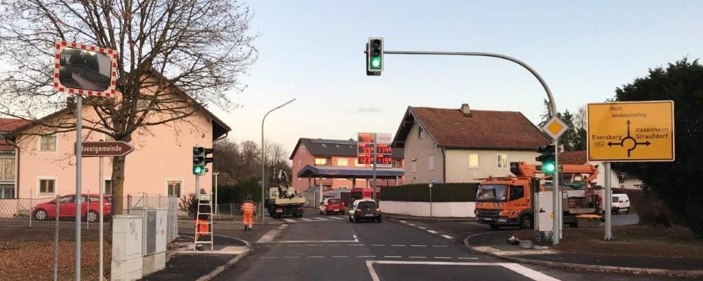 Fußgängerampel Rotter Straße