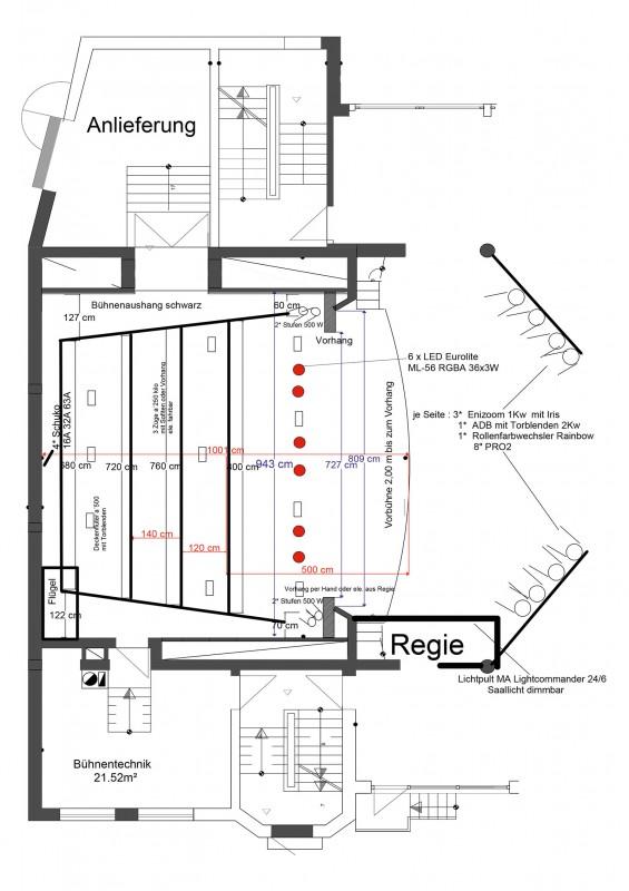 Bühnenplan Stadthalle Grafing